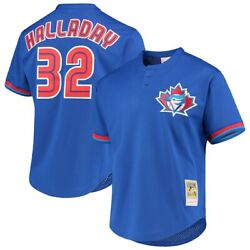 Toronto Blue Jays Roy Halladay 32 Mitchell And Ness Royal Mlb Authentic Jersey