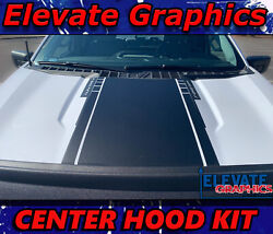 For Ford F150 Center Hood Stripes Vinyl Graphics Spears Decals Sticker 2021-2022