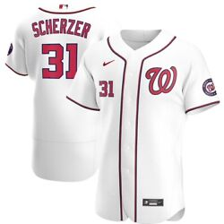 Washington Nationals Max Scherzer Nike White Home Official Mlb Authentic Jersey