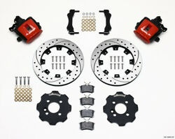 Wilwood Combination Parking Brake Rear Kit 11.75in Drilled Red Mini Cooper