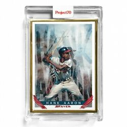 1/1 Topps Project 70 - 23 Hank Aaron - Gold Frame Ultra Rare -chuck Styles 🏅🔥