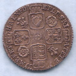 Great Britain. 1731 George 11 - Sixpence.. Roses And Plumes.. Gvf - Part Lustre