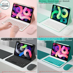 For Ipad 7th 8th Gen 10.2 Air 10.9 Pro 11 Bluetooth Keyboard Mouse Case Cover