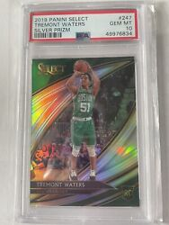 2019 Select Tremont Waters Courtside 247 Rookie Silver Prizm Psa 10 Gem Pop 2