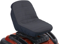 Riding Tractor Lawn Mower Seat Cover Cushioned Water-resistant Backing Small New