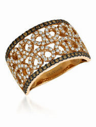 Levian 14k Rose Gold Chocolate Brown Round Diamonds Fancy Cocktail Ring