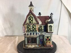 Vintage Collectible Large Ceramic Holiday/christmas Village Toy Shop Pre-owned