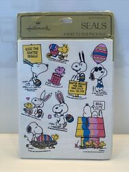 Hallmark Vintage Snoopy And Woodstock Easter Stickers/seals, Factory Sealed, Rare