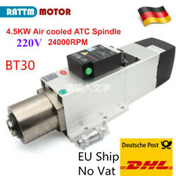 【de Ship】atc Spindle Motor Bt30 Square Air Cooled 4.5kw 220v And Tool Holder