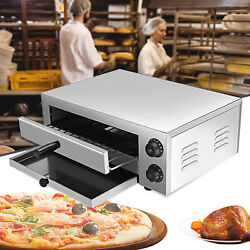 12 Inch Electric Pizza Oven Maker Commercial Auto Shut Off Removable Tray