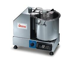 Sirman 40802218p 9 Quart Variable Speed Cutter/mixer W/ Removable Bowl