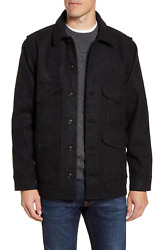 New With Tags Filson Men's Mackinaw Wool Cruiser Jacket Charcoal Grey Xl 395