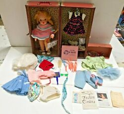 Vintage 16andrdquo Blonde Terri Lee Doll With Clothes Accessories And Carrying Case