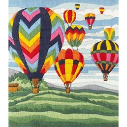 Embroidery Kit Hot Air Balloon Ride Long Stitch Kits