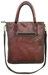 Smith And Wesson Flat Tote / Ladies Big Shoulder Bag / Leather Hand Bag