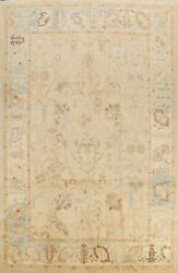 Vegetable Dye Muted Authentic Oushak Turkish Area Rug Hand-knotted Wool 9x12