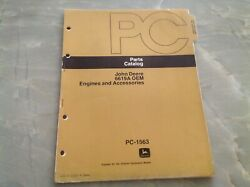 John Deere 6619a Oem Engine And Accessories Parts Catalog Pc-1563