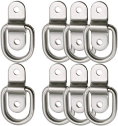 D-ring Tie Down Anchor 8x 1/4and039and039 Stainless Steel D-rings Trailer D Ring Tie Downs