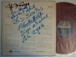 Autographed / Red Vinyl / Los Santos S/t Same / 60and039s Flip Back Cover