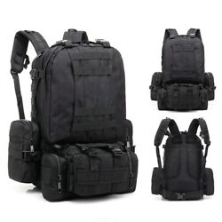 Tactical 4in1 Molle System Backpack Army Sports Hunting Camping Hiking Rucksack