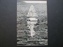 1964 Mcculloch 75hp Outboard Boat Motor--neat Vintage '64 Ad From Private Estate
