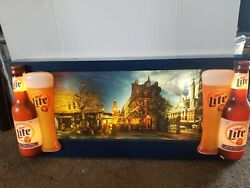 1996 Miller Lite Beer Coast To Coast Motion Moving Flashing Light Up Sign
