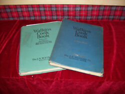 Vintage Lot Of 2 Watkins Cook Books 1938 And 1948 Spiral Household Hints
