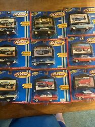 Road Champs Classic Collection Lot Of 9 Vintage Diecast Cars W Billboards Nrfp