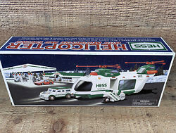 New 2001 Hess Truck Helicopter With Motorcycle And Cruiser New In Box