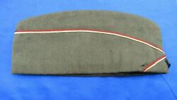 Original Wwi Engineer Officers Overseas Cap W/red And White Trim W/id And Dog Tag