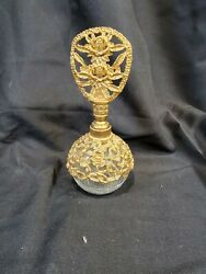 Vintage Refillable Gold And Glass Perfume Atomizer