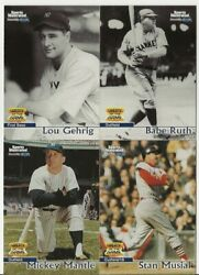 1999 Sports Illustrated Greats Of The Game Baseball Complete Set 1-90
