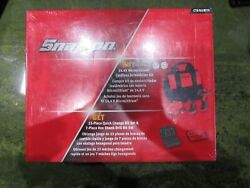Snap On 14.4v Micro Lithium Cordless Screwdriver Kit And 30 P. Bit Set, New