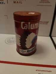 Vintage Calumet Indian Baking Powder Tin With Lid. Filled With Powder