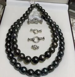 Special Offer 13-15mm Tahitian Saltwater Pearl Necklace S925 Japan Order