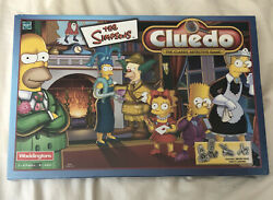 The Simpsons Cluedo 2001 Complete Brand New Sealed Board Game Hasbro Waddingtons
