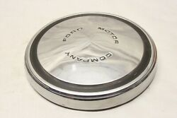 Original 1960and039s Ford Motor Company Truck Dog Dish Poverty Chrome Hubcap 10-1/2