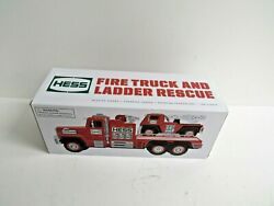 Hess 2015 Fire Truck And Ladder Rescue Truck-nib