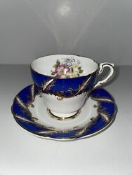 Paragon By Appointment Fine Bone China England Blue Tea Cup/saucer Radstock