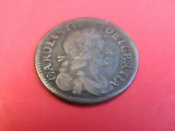 Coin Great Britain Four Pence 1681 King Charles Ii Carolvs Sterling Silver 4