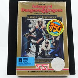 Advanced Dungeons And Dragons - Pools Of Darkness | Factory Sealed, New | Ibm Pc