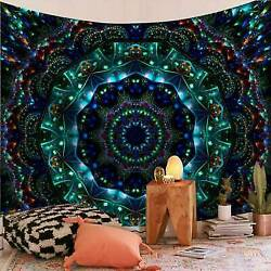 Psychedelic Mandala Tapestry Hippie Room Wall Hanging Throw Tapestry Bedspread
