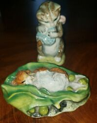 Lot Of 2 Beatrix Potter Figurines Beswick, England Timmie Willie Miss Moppet