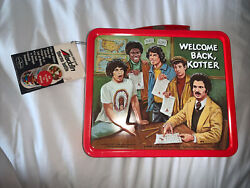 1977 Vintage Aladdin Welcome Back Kotter 3d Metal Lunch Box W/thermos Nos W/tag