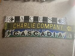 Timbers Army Scarf Aces 1.0 Charlie 1.0 Usl Mls - Any Club Except Seattle