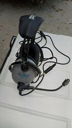 Pilot Headphones Softcomm Model C40 Stereo Headset With Mic Two Way Us