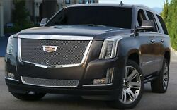 New Eandg Cadillac Escalade Grille 2015-2020 Heavy Mesh Hood Cap Upper And Bottom