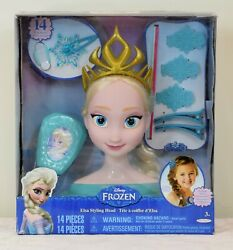 Disney Frozen Elsa Styling Head - Sealed With Tiara And Misc Accessories
