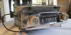 Vintage Motorola 400 Car Pickup Truck Early Am Radio 40and039s 50and039s 60and039s Untested