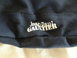 Jean Paul Gaultier Navy Blue Nautical Beach Backpack Tote Bag. Rope Drawstring $21.99